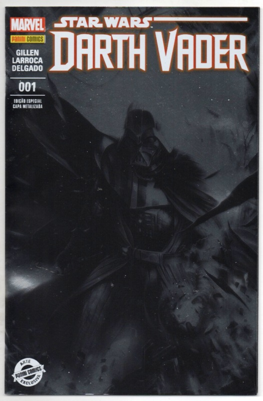 STAR WARS DARTH VADER nº01 - CAPA METALIZADA - PANINI