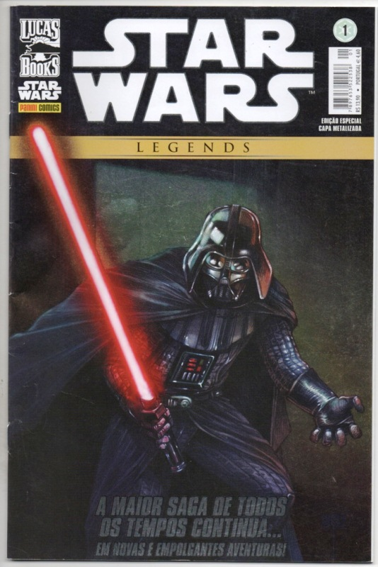 STAR WARS LEGENDS nº01 - CAPA METALIZADA - EDITORA PANINI