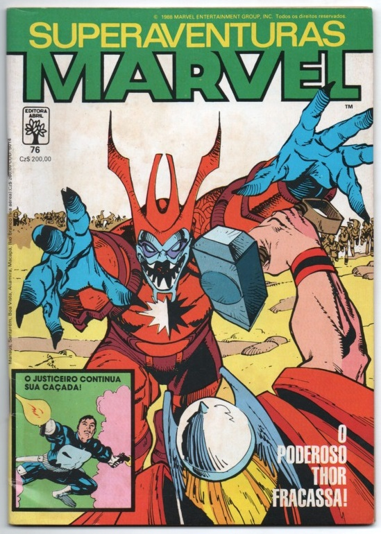 SUPERAVENTURAS MARVEL nº076 - ED. ABRIL