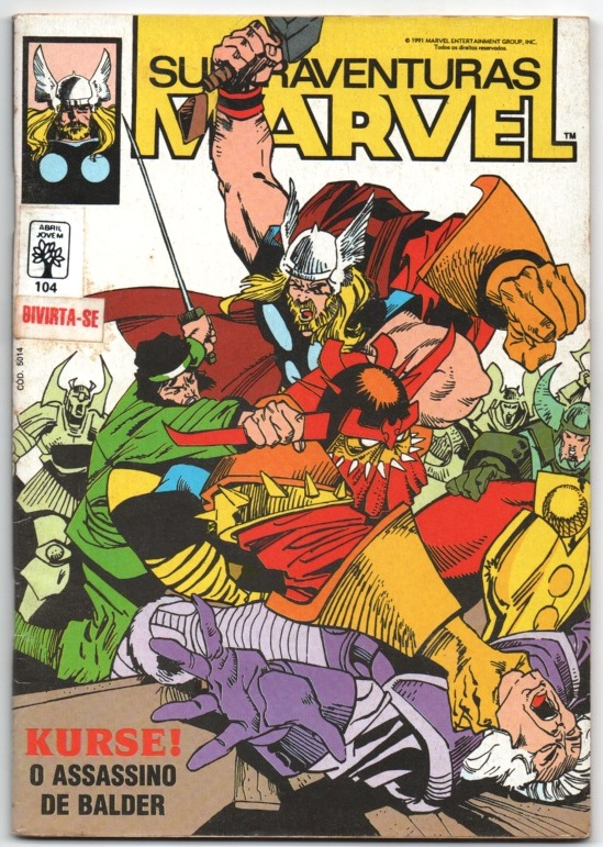 SUPERAVENTURAS MARVEL nº104 - ED. ABRIL