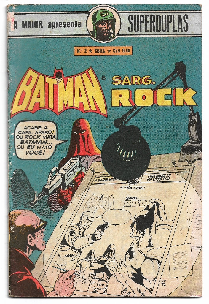 SUPERDUPLAS nº02 - BATMAN E SARGENTO ROCK - EBAL