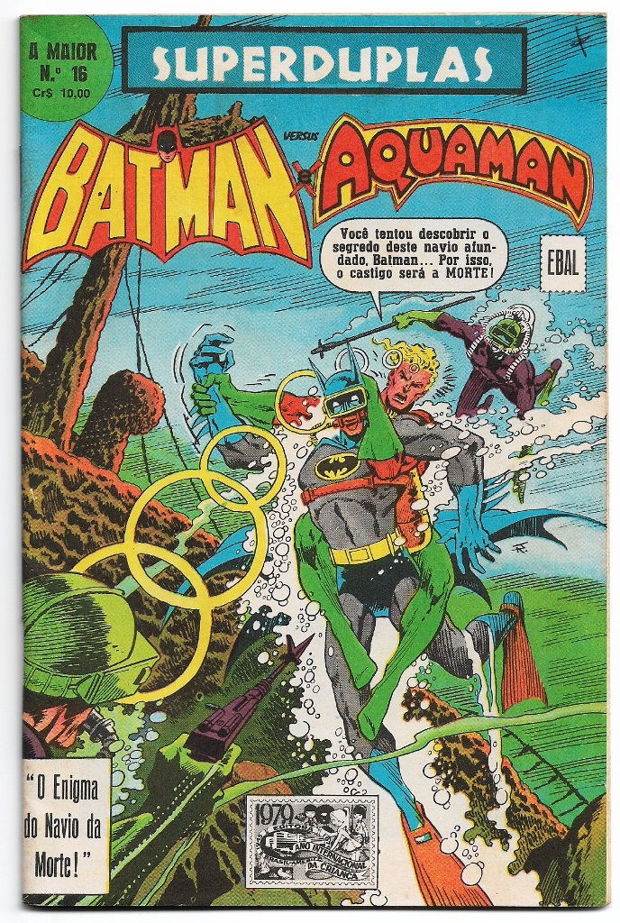 SUPERDUPLAS nº16 - BATMAN E AQUAMAN - EBAL