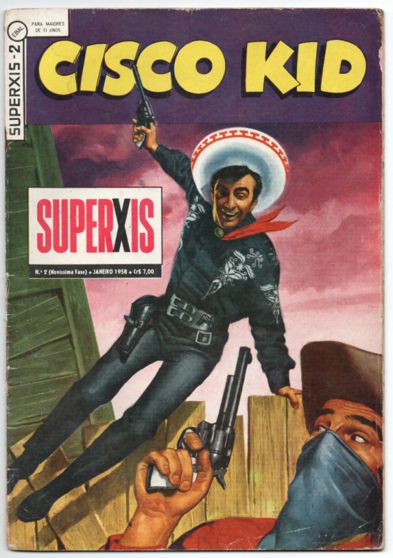 SUPERXIS 4ª SÉRIE n°02 - CISCO KID - 1958 - ED.EBAL
