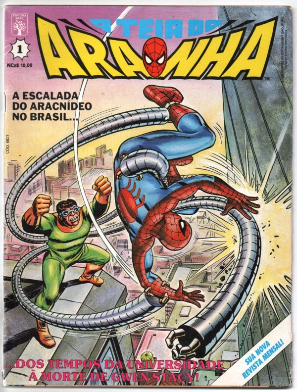 A TEIA DO ARANHA n°001 - EDITORA ABRIL