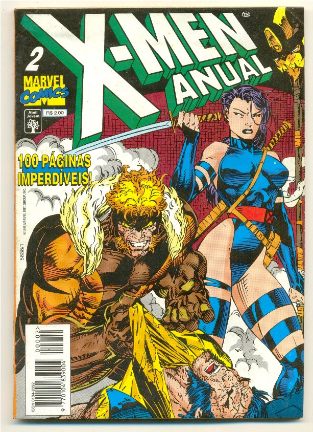 X-MEN ANUAL nº02 - EDITORA ABRIL