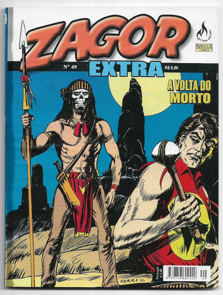 ZAGOR EXTRA nº049 - ED. MYTHOS - A MÚMIA DO MORTO