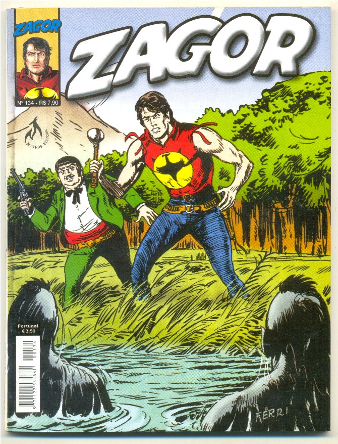 ZAGOR nº134 - NA BORDA DO VULCÃO - ED. MYTHOS