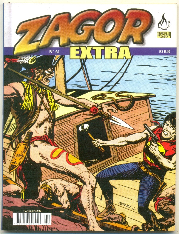 ZAGOR EXTRA nº061 - ED. MYTHOS - AS FERAS DO RIO NEGRO