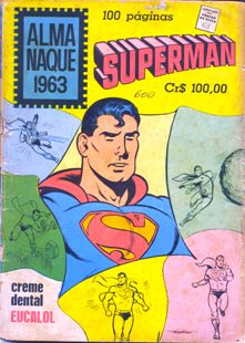 ALMANAQUE DO SUPERMAN DE 1963 - EBAL