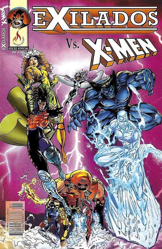 EXILADOS VS X-MEN - EDITORA MYTHOS