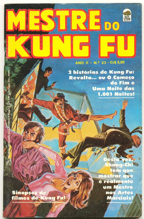 MESTRE DO KUNG FU nº23 - ED. BLOCH