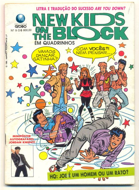 NEW KIDS ON THE BLOCK nº09 - EDITORA GLOBO