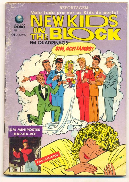 NEW KIDS ON THE BLOCK nº14 - EDITORA GLOBO